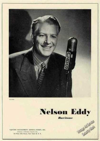 Nelson Eddy Photo Baritone Booking (1945)