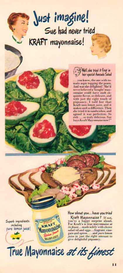 Kraft Mayonnaise &#8211; Avocado Salad (1950)
