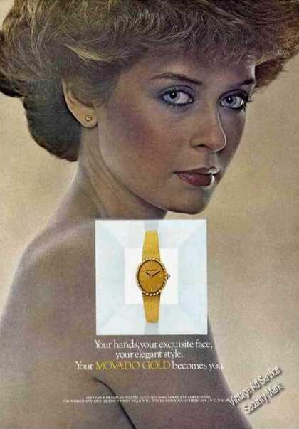 Beautiful Movado Gold Wristwatch (1977)
