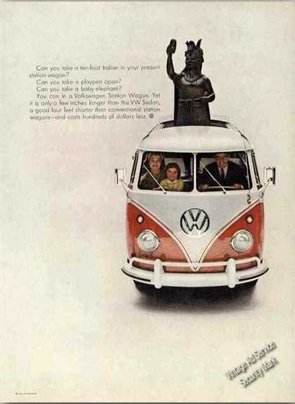 Vw Volkswagen Station Wagon Ten Foot Indian (1960)