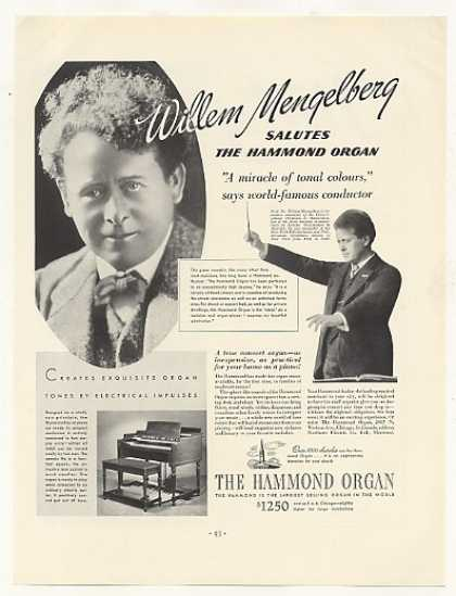 Willem Mengelberg Hammond Organ Photo (1937)
