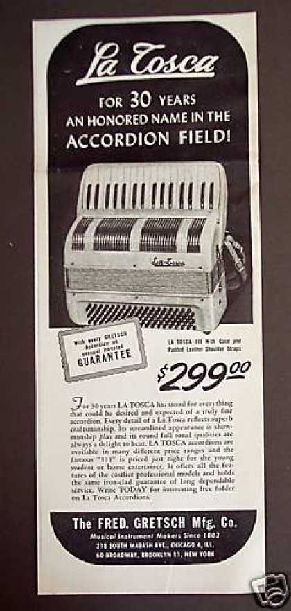 La Tosca Accordian By Gretsch (1948)