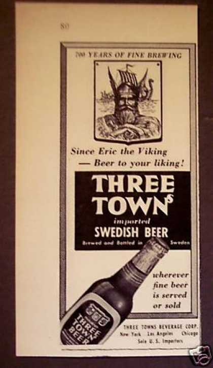 Three Towns Swedish Beer Viking (1951)