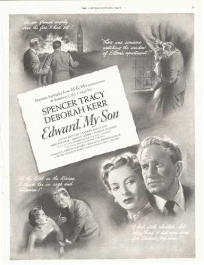 Movie Ad Edward, My Son Spencer Tracy Deborah Kerr (1949)