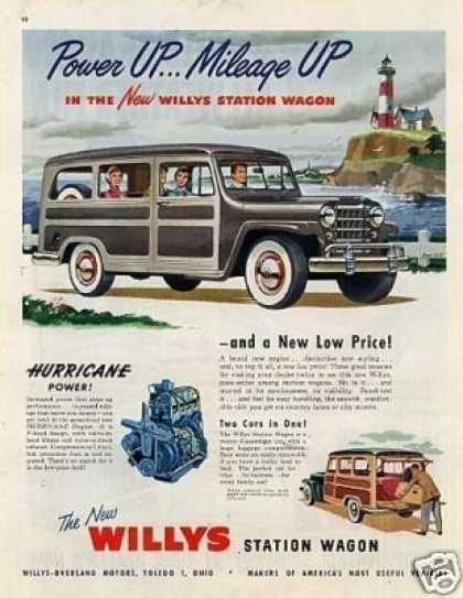 "Willys Station Wagon Ad ""Power Up... (1950)"