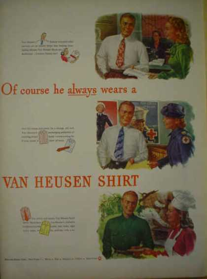 Van Heusen Shirts AND Hiram Walker's London Dry Gin (1945)