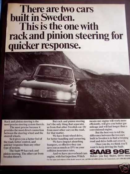 Saab 99e Automobile Swedish Car (1972)