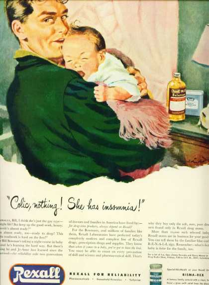 Rexall Drugs Father & Baby W Colic C (1953)
