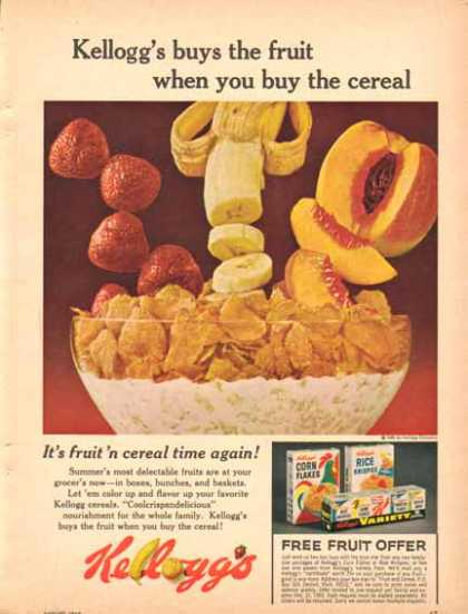 Kellogg's Cereal – Free Fruit Offer (1965)