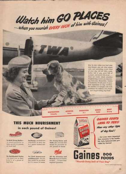 Gaines Dog Food Twa Airplane (1949)