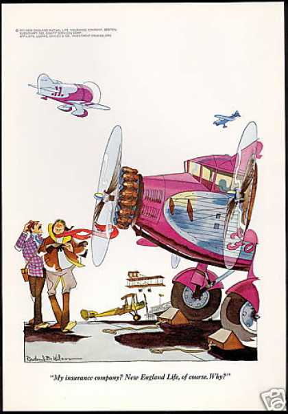 Plane Pilot Wilson Art New England Insurance (1971)