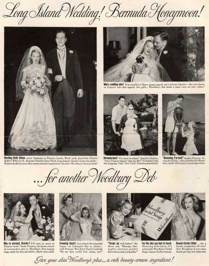 Woodbury's Facial Soap – Long Island Wedding! Bermuda Honeymoon! ...for another Woodbury Deb (1949)