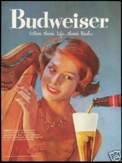 Harp Harpest Photo Bud Budweiser Beer (1959)