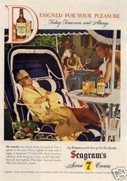 "Seagram's Whiskey Ad ""Designed for Your... (1946)"
