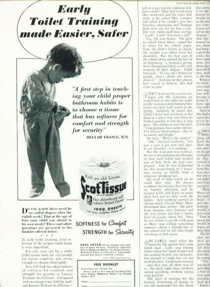 Scottissue Toilet Paper Ad 1/2 Pg Little Boy (1940)