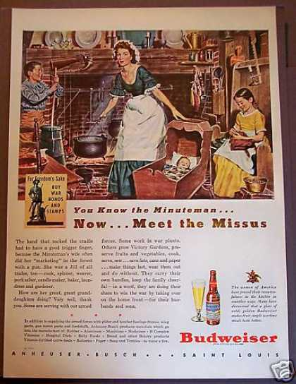 Budweiser Beer Women Supporting Wwii (1944)