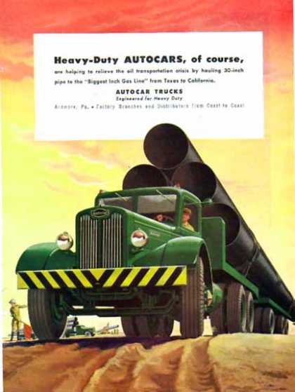 Autocar Truck – Big Green Tractor Trailer Truck – Sold (1948)