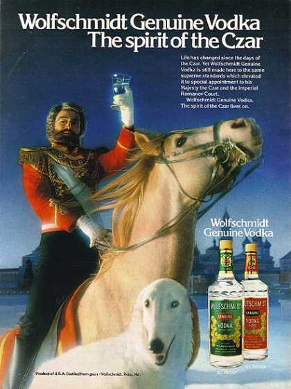 Wolfschmidt's Genuine Vodka (1981)