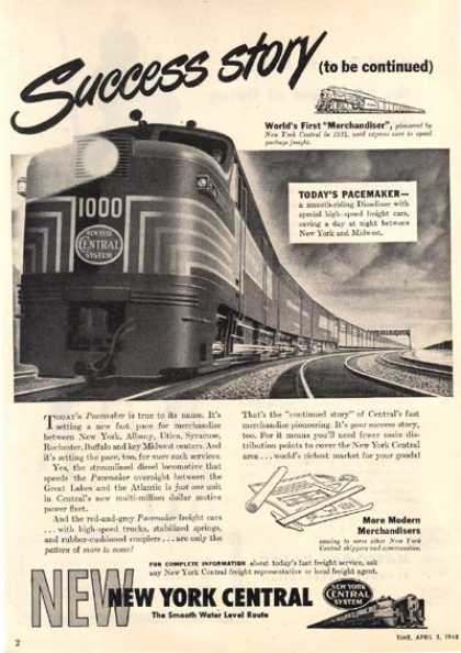 New York Central's Pacemaker Dieseliner (1948)