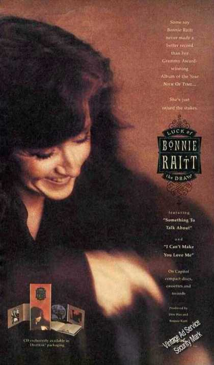 "Bonnie Raitt Photo ""Luck of the Draw"" Music (1991)"