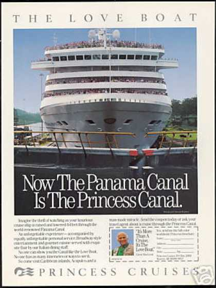 Panama Canal Photo Princess Cruise Ship (1989)
