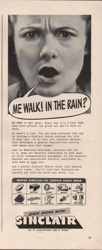 Me Walk In the Rain Sinclair Dealers Print (1942)