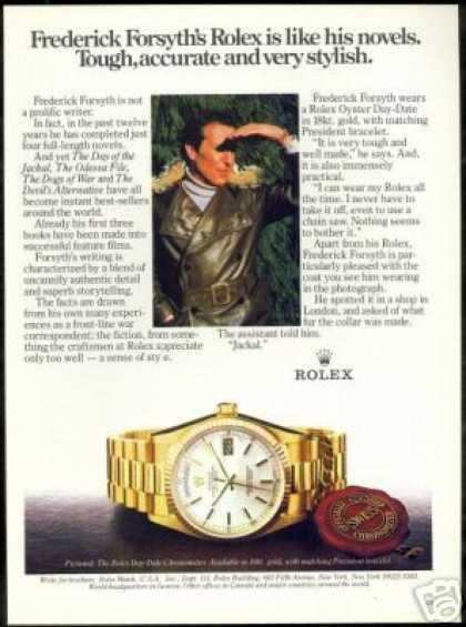 Frederick Forsyth Photo Vintage Rolex Watch (1983)
