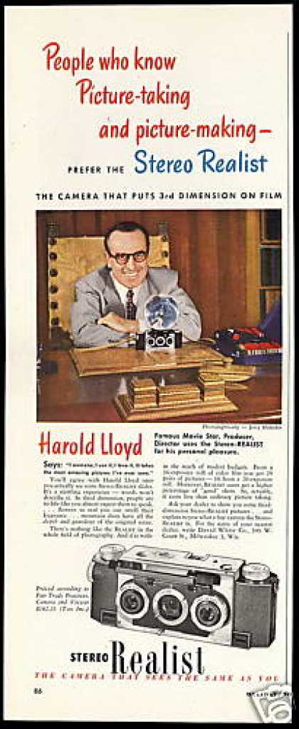 Harold Lloyd Photo Stereo Realist Camera (1949)