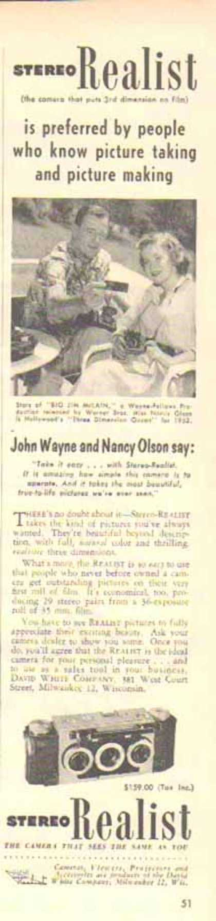 Stereo Realist Camera – John Wayne & Nancy Olson (1952)