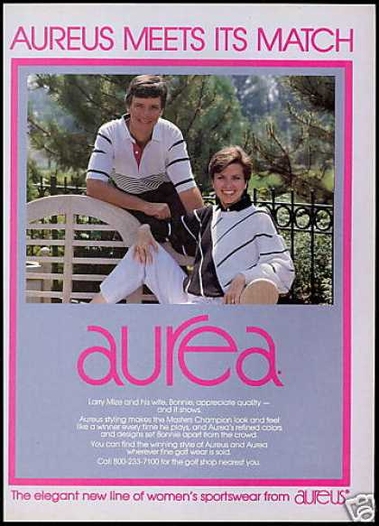 Larry & Bonnie Mize Photo Aurea Golf Fashion (1989)
