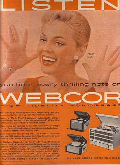 Webcor High Fidelity Fonografs – Peggy Lee (1956)