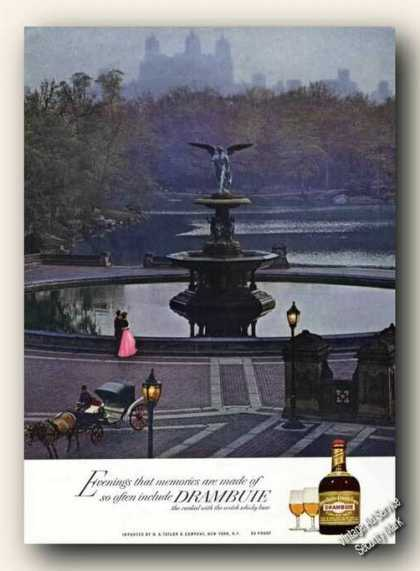 Drambuie Bethesda Fountain Central Park Photo (1966)