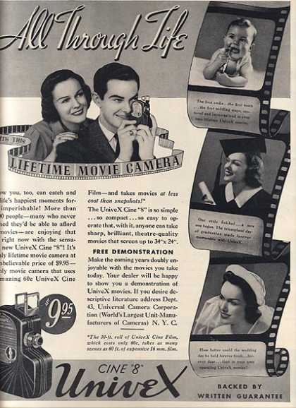 "UniveX's Cine ""8"" Movie Camera (1937)"