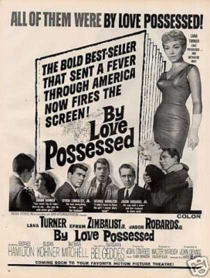 "Movie Ad ""By Love Possessed"" Lana Turner (1961)"