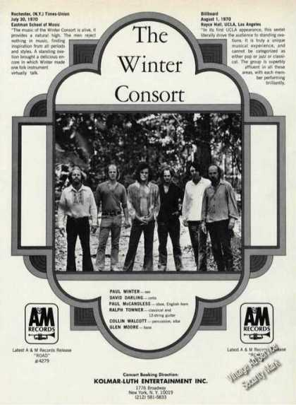 The Winter Consort Group Photo Booking (1971)