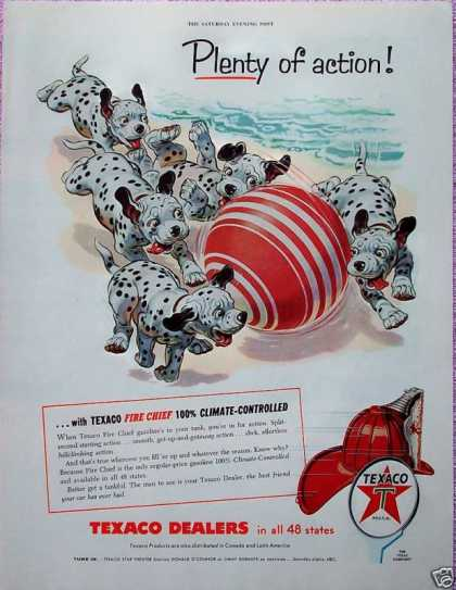 Texaco Dalmatian Puppy Puppies Beach Ball Sand (1955)