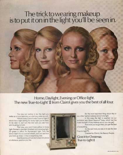 Clairol True To Light Makeup Mirror (1970)