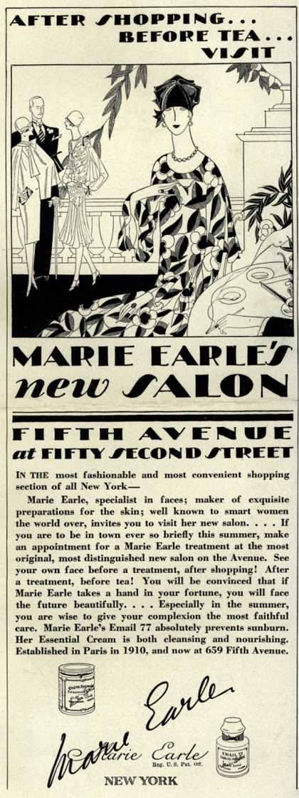 Marie Earle – After Shopping... Before Tea... Visit Marie Earle's new Salon (1926)