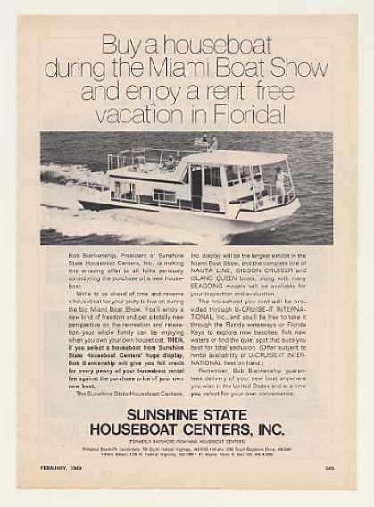 Sunshine State Houseboat Centers Boat Photo (1969)