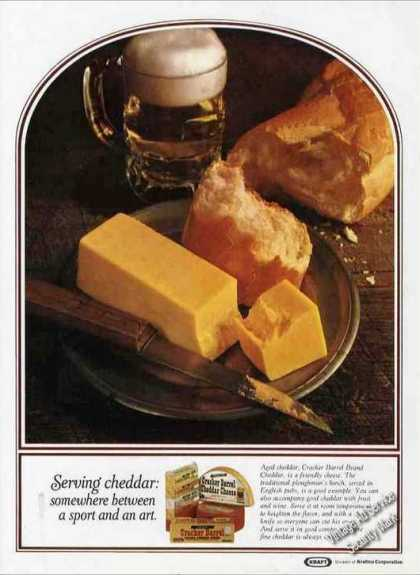 Serving Cheddar Cheese Beautiful Photo Kraft (1971)