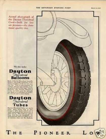 Dayton Tire Ad 2 Page (1925)