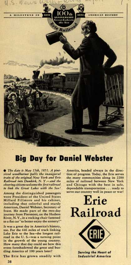 Erie Railroad – Big Day for Daniel Webster (1951)