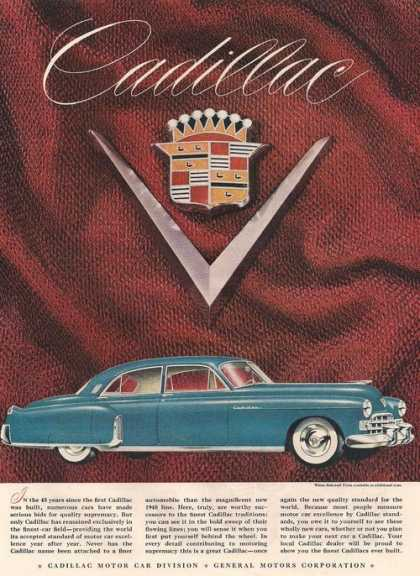 Blue Cadillac Car (1948)