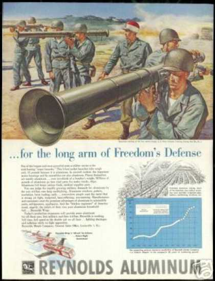 U.S Army Fort DIX NJ Bazooka Reynolds (1951)