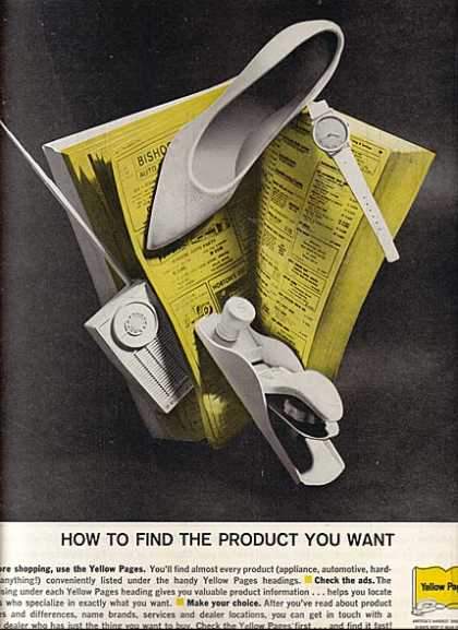 "Yellow Page's ""How to find the Product you Want"" (1961)"
