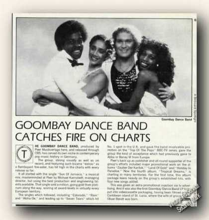 Goombay Dance Band Photo Germany Music Promo (1982)