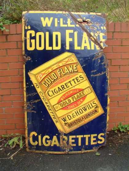 Giant Wills's Gold Flake Enamel Sign