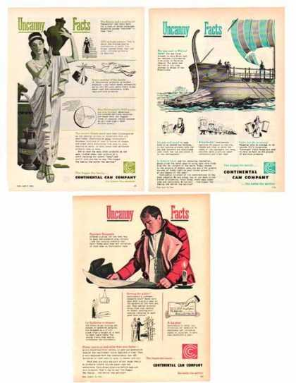 Continental Can Company Ads – Uncanny Facts – Sold (1951)