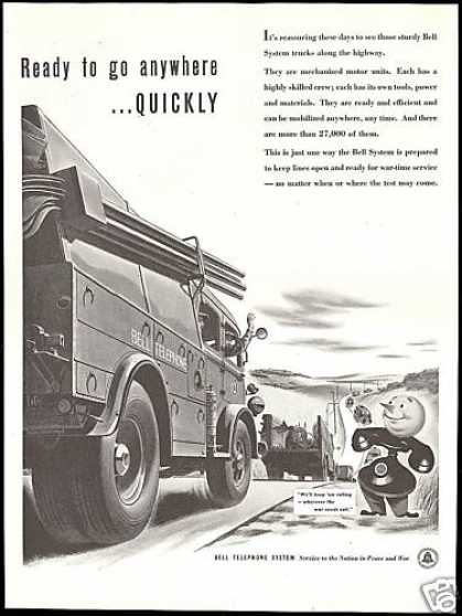 Bell Telephone Lineman Truck War Time Service (1942)