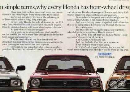 Why Every Honda Has Front-wheel Drive (1980)
